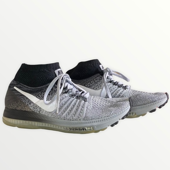 Nike Gray Zoom All Out Fly Knit Sneakers Sz 7.5